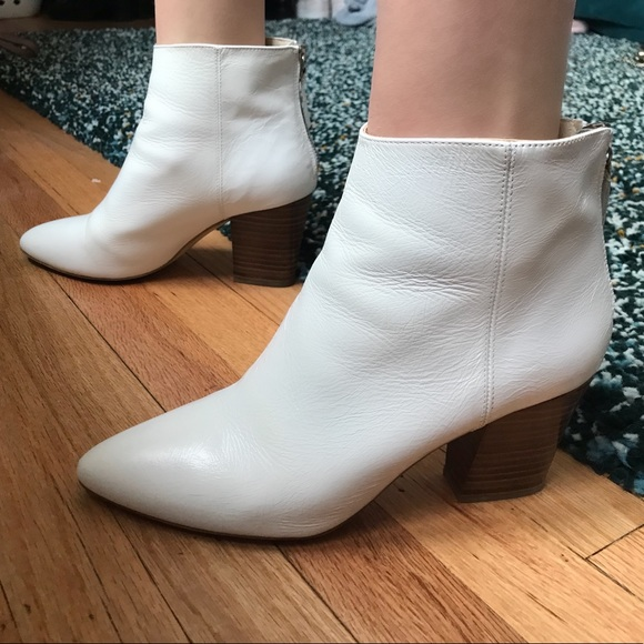 6a9472848bbb White Zara Heeled Booties